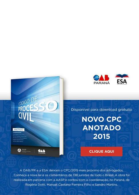 Novo Código de Processo Civil – 2015 Anotado