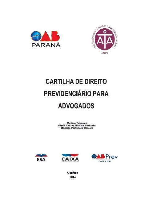 Cartilha de Direito Previdenciário para Advogados